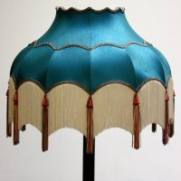 Turquoise Lampshade with White Tassels - Ten and a Half ...