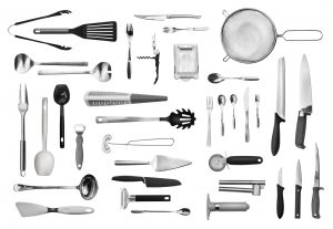 kitchen knives and tools