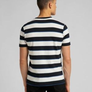 t-shirt righe stripe tee black