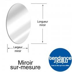 miroir acrylique 3mm sur mesure ovale