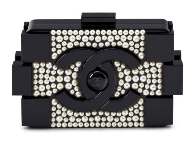 Chanel Boy Brick Pearl Clutch, 16 000 $ via Christie's