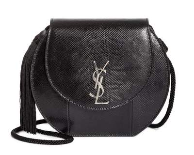 Sac Saint Laurent Demi lune en peau de serpent