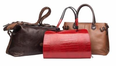 Sac à main de voyage sacs à main en cuir rouge, brun et feu