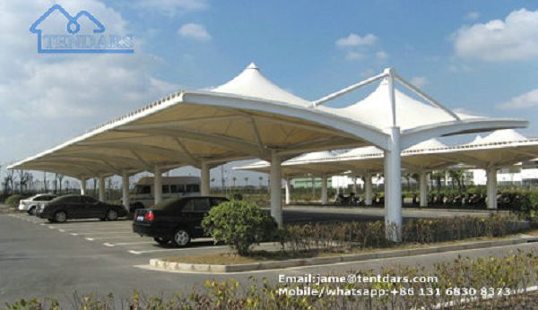 China Permanent Tensile Membrane Carport Canopy Waterproof Tent