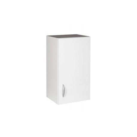meuble de cuisine haut 1 porte 50 cm oxane laque brillant avec une etagere