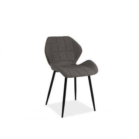 chaise design hals avec pieds en metal noir