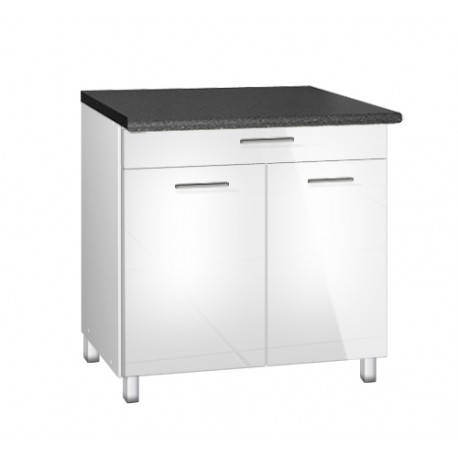 meuble de cuisine 90 cm 1 tiroir tara avec pieds reglables