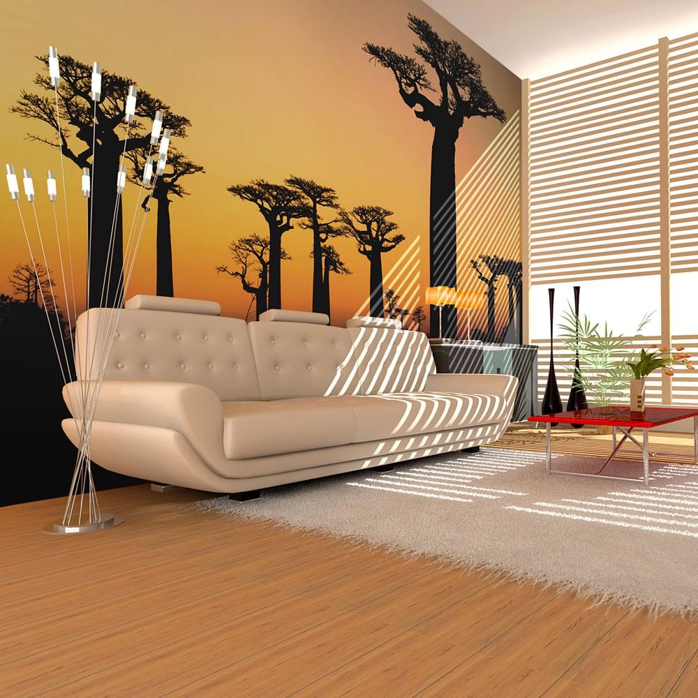 papier peint baobabs africains tendencio