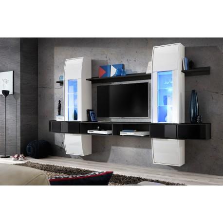 ensemble meuble tv comet i noir et blanc