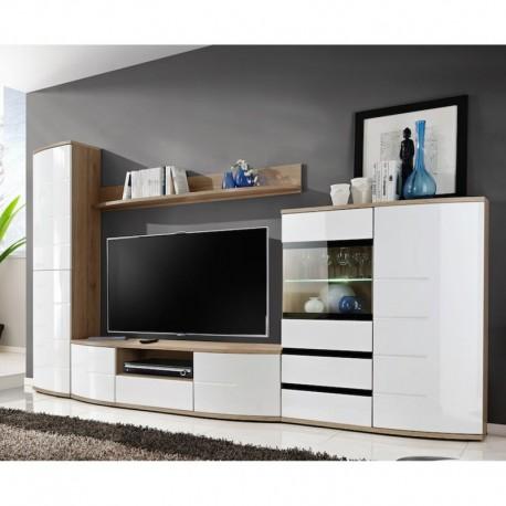 ensemble meuble tv ontario chene et blanc
