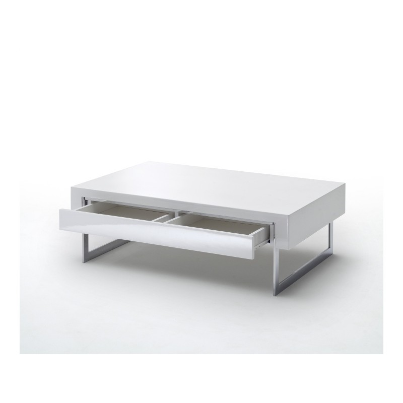 table basse dipsy blanc laque