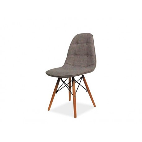 chaise scandinave axel ii gris chine aspect boutonne