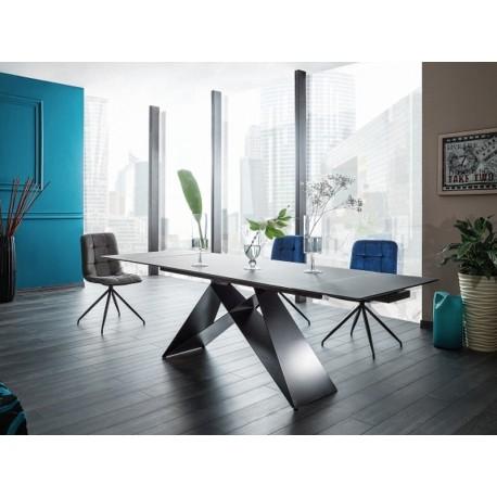 table a rallonge et extensible westin plateau en verre trempe