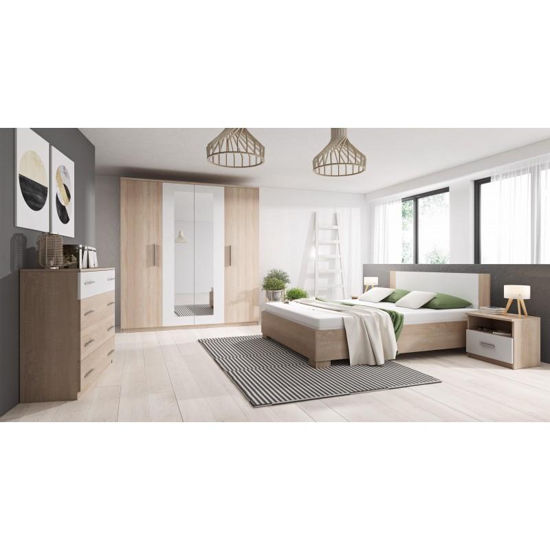 chambre a coucher complete marco bois et blanc a moins de 400 euros