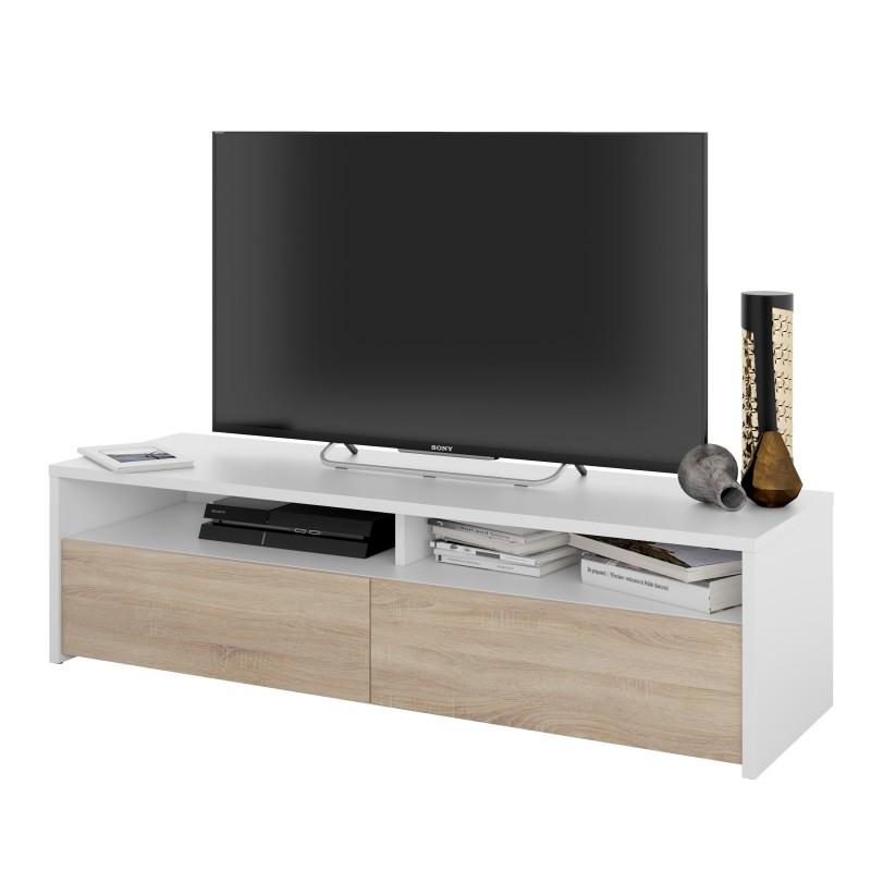 meuble tv style scandinave bois et
