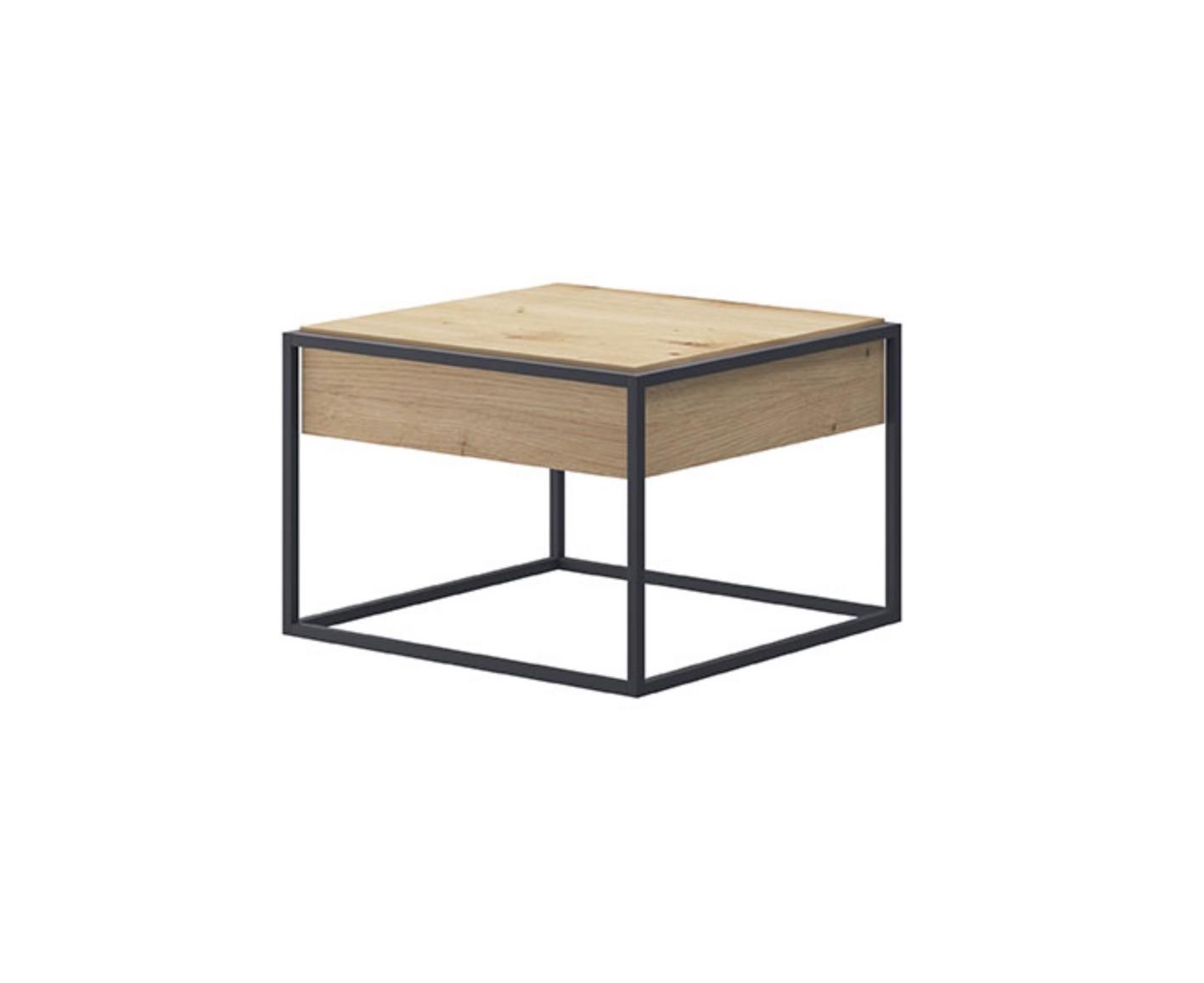 table basse industrielle carree de 60 cm enjoy