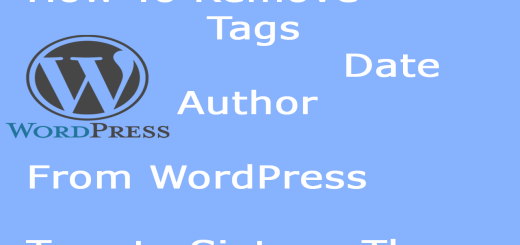 How to remove author, date and tags in wordpress twenty sixteen theme
