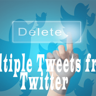 delete multiple tweets from twitter