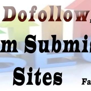 Dofollow forum submission sites list