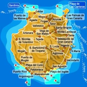 Mappa di Gran Canaria