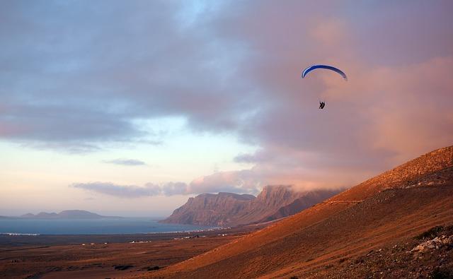 L'isola di Lanzarote - Paragliding