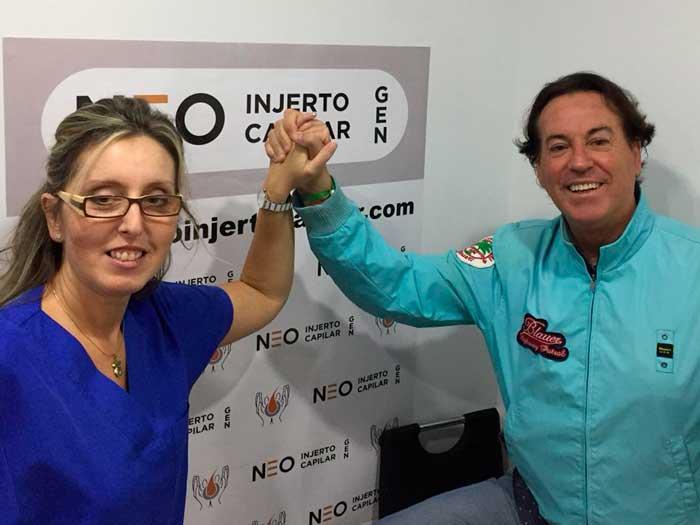El implante capilar de Pipi Estrada - Pipi-Estrada-con-la-doctora-de-Neo-injerto-capilar