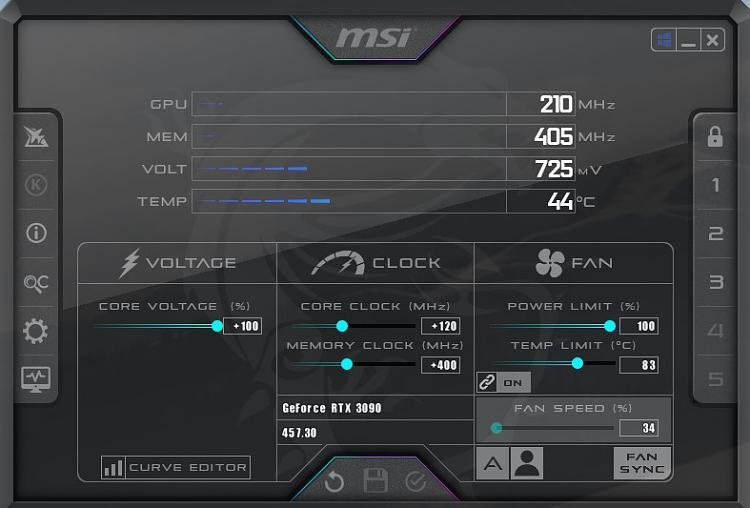 MSI Afterburner shows wrong data after reboots - Windows 10 Forums