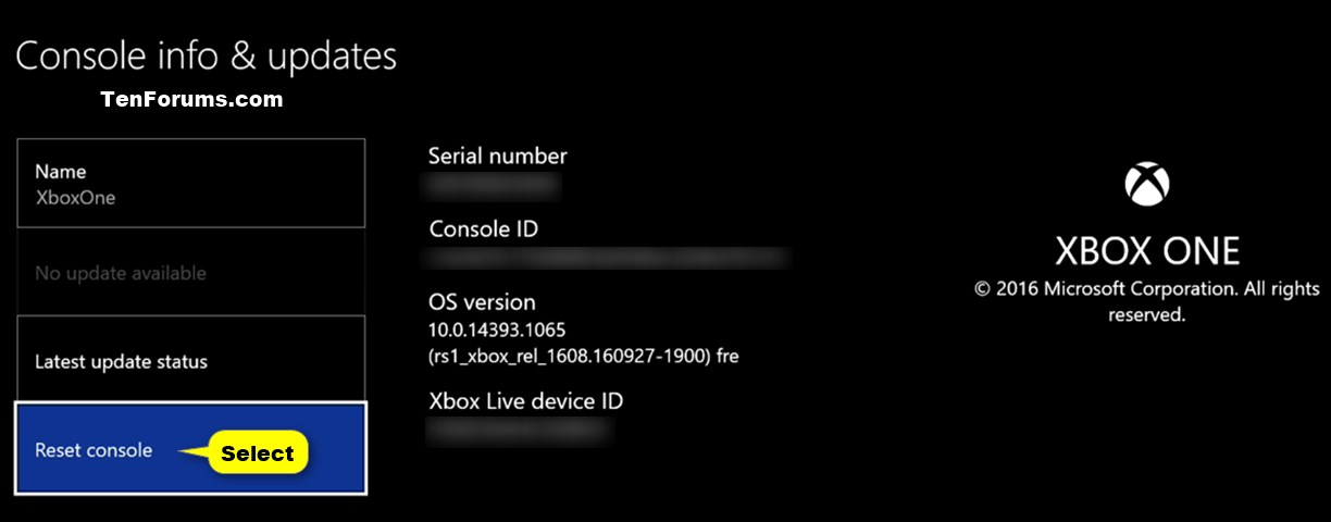 Reset Xbox One To Factory Defaults Tutorials
