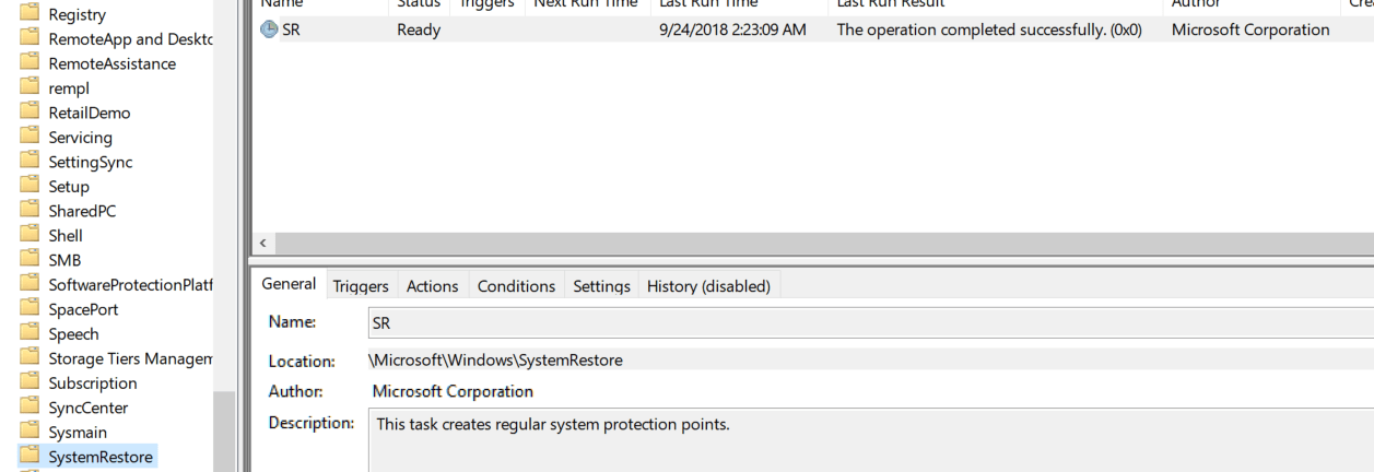 Automatically Create System Restore Point on Schedule in