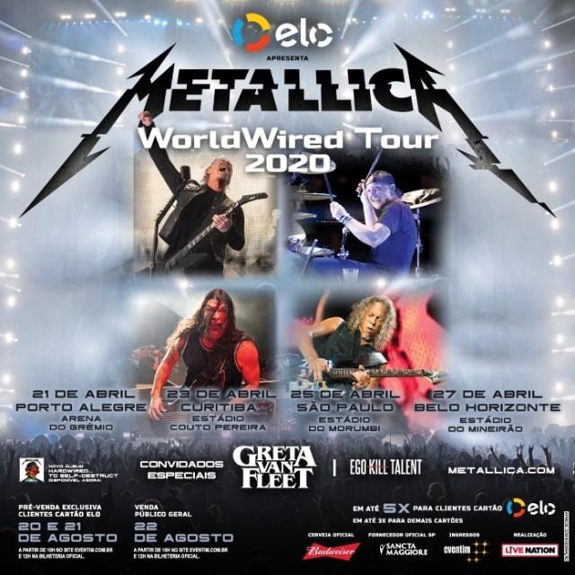 Metallica vem ao Brasil junto com Greta Van Fleet