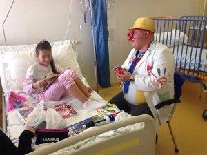 Clownterapia Ospedale Spaziani di Frosinone con il Clown Tonno