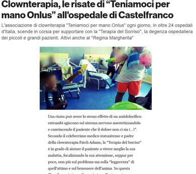 Clownterapia le risate di Teniamoci per Mano Onlus all Ospedale di Castelfranco