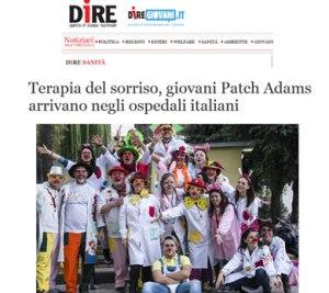 Terapia del sorriso giovani Patch Adams arrivano negli ospedali italiani