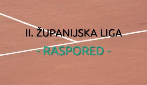 II. Županijska Liga 2017. - Raspored