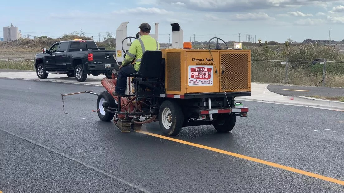 Road Striping Services in Maryland