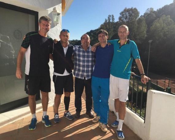 JIRI NOVAK visita el Club de Tenis Estepona