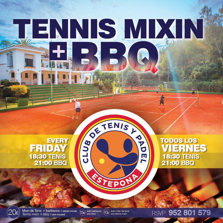 Viernes Mixin de Tenis + Barbacoa