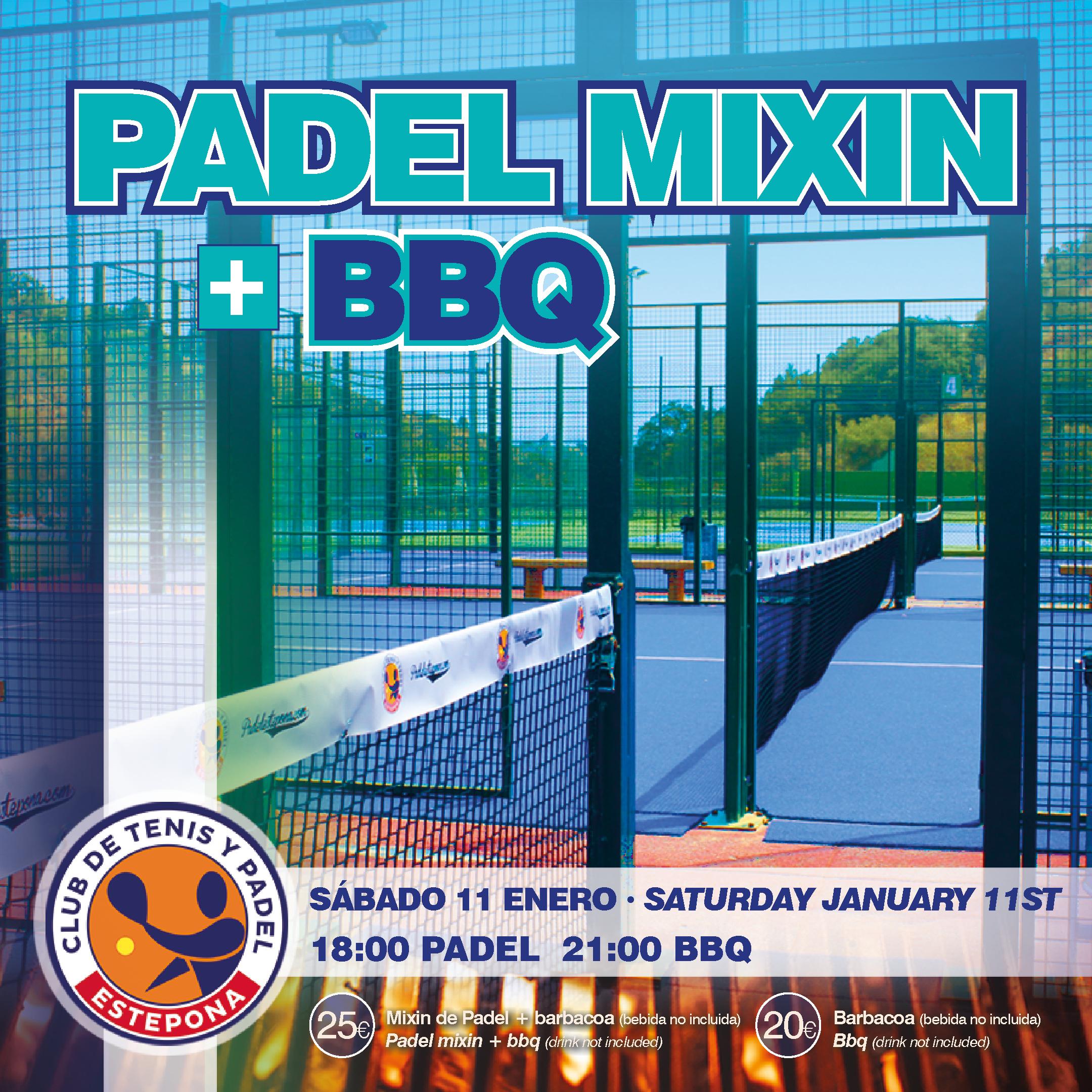 Mixin de Padel con barbacoa sábado 11 de Enero.