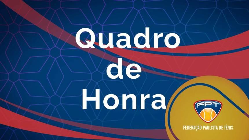 24ª Copa São Paulo de Tênis Infanto-Juvenil – Troféu Marília Silberberg | Quadro de Honra