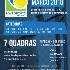 HWT SPORTS RECEBE TORNEIO ABERTO FPT