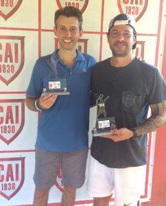 Indiano Open - Cat. 40MA - Campeão Gabriel Migliori Neto e Vice-campeão Gabriel Vendramini