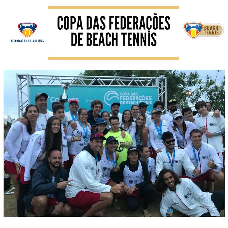 SÃO PAULO É VICE-CAMPEÃO DA COPA DAS FEDERAÇÕES DE BEACH TENNIS