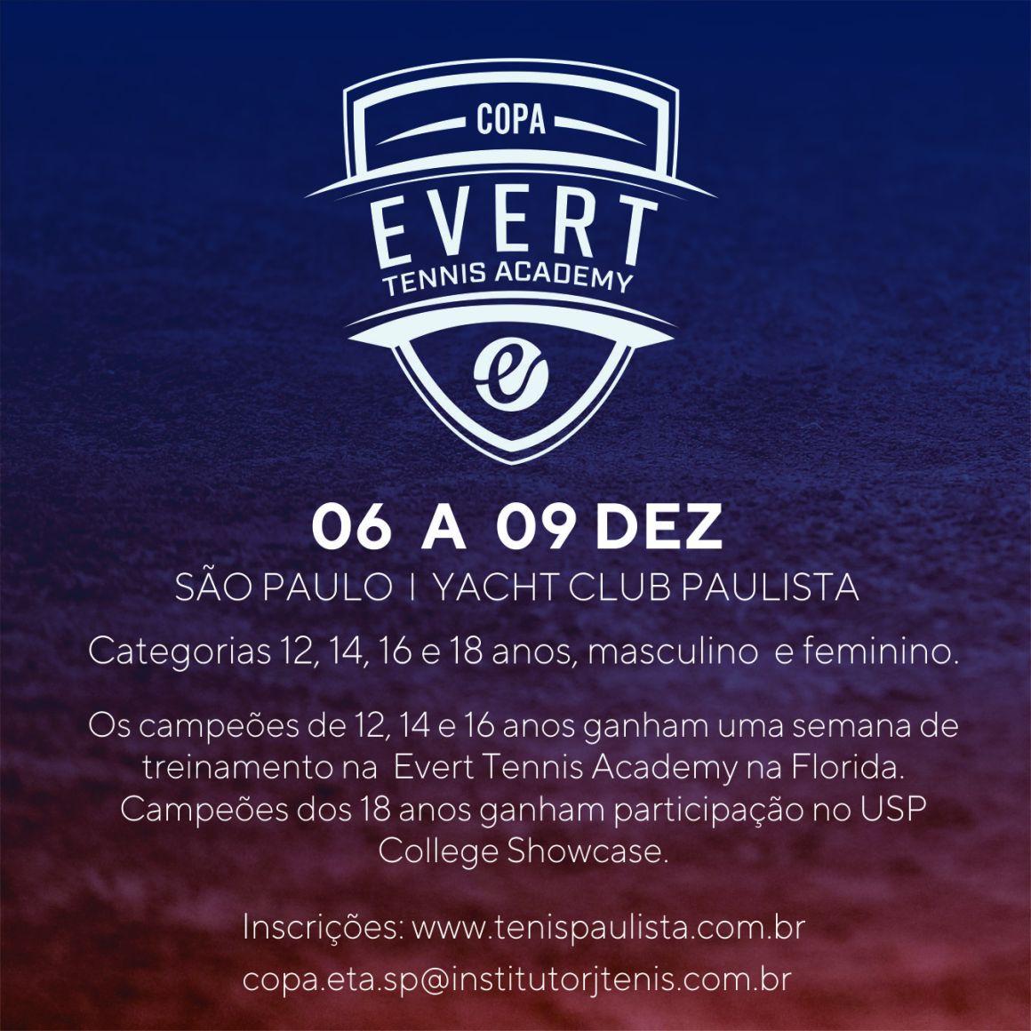 COPA EVERT TENNIS ACADEMY – ETAPA SÃO PAULO