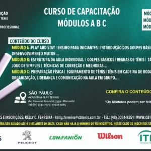 CURSO DE CAPACITAÇÃO DA CBT – JANEIRO/2019