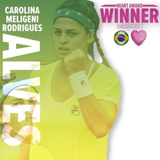 CAROLINA MELIGENI RECEBE FED CUP HEART AWARD
