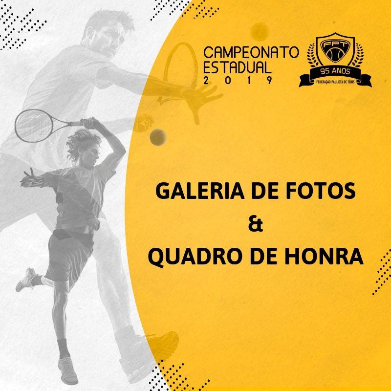 QUADRO DE HONRA E GALERIA DE FOTOS – CAMPEONATO ESTADUAL 2019 ADULTOS E SENIORES