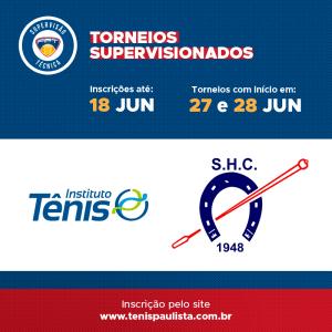 TORNEIOS SUPERVISIONADOS – INSCRIÇÕES ATÉ 18.06
