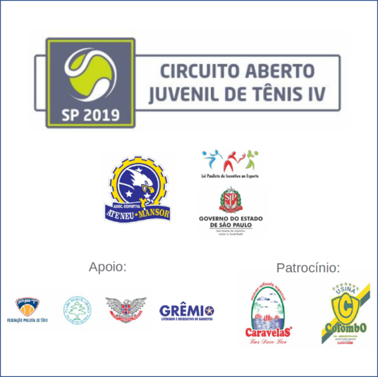 CIRCUITO ABERTO JUVENIL DE TÊNIS IV – SP 2019