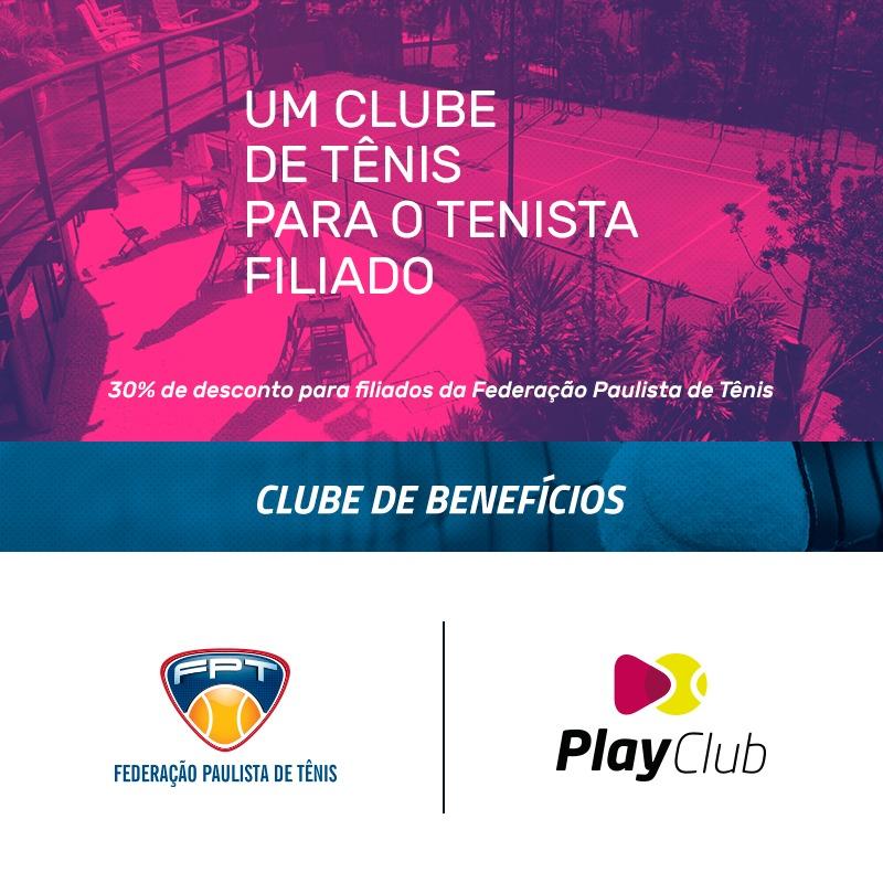 PLAYCLUB DAS ACADEMIAS PLAYTENNIS – NOVO PARCEIRO DO CLUBE DE BENEFÍCIOS DA FPT
