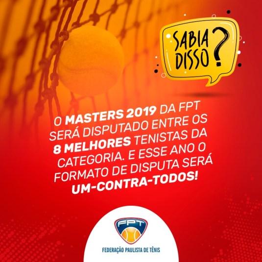 SABIA DISSO? MASTERS 2019